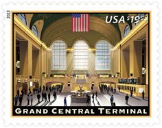 Majestic Grand Central Terminal in New York City officially opened on February 2, 1913, and next year USPS will celebrate the anniversary with this new Express Mail stamp. A release date has not yet been set, but you can learn more about the stamp, and all the 2013 stamps previewed so far, at http://beyondtheperf.com/2013-preview/.