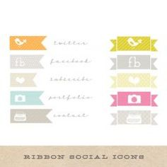 Banner Social Network Icons