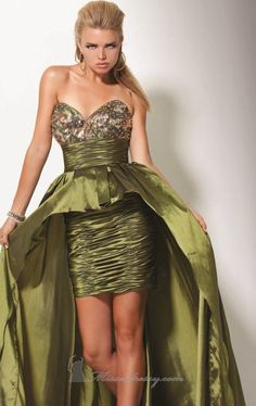 Army camo gown for a patriotic pageant.