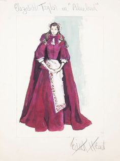 Edith Head sketch for Elizabeth Taylor in The Blue Bird (1976)