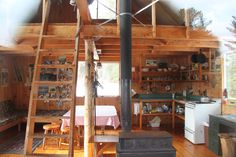 beautiful simple cabin interior