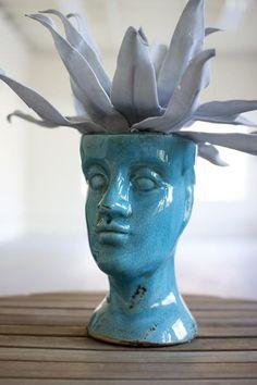 ceramic head planter