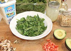 How to build my favorite spinach salad. :-)