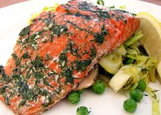 Baked Salmon with Dill - 239 calories