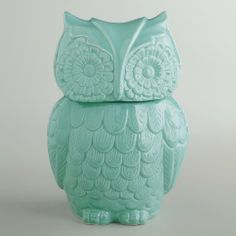 Blue Owl Cookie Jar,