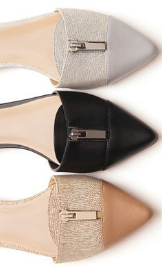 Zipper flats #fallmusthaves http://rstyle.me/n/nviesn2bn