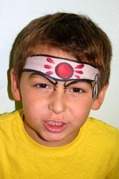 boy face painting, boy face paint ideas, karate kid face paint, facepainting ideas for kids, cool face paint for kids, face painting ideas for boys, halloween costum, ninja face paint, ninja warrior kids