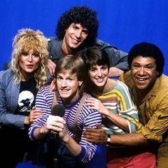 (The Original) MTV VJs Mark Goodman, Nina Blackwood, Alan Hunter, Martha Quinn and JJ Jackson. MTV launched on August 1, 1981