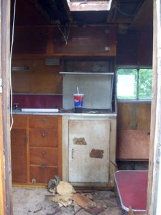Camper Kitchen Before