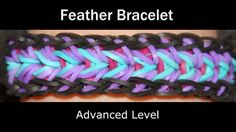 Rainbow Loom Patterns: Feather Rainbow Loom Pattern (youtube tutorial)