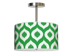 Ikat Pendant in a bold green!