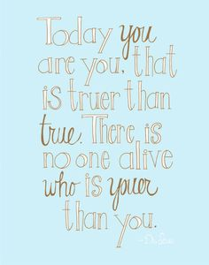 you are you.
