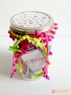 """A-Mason"" thank you gift idea with free Mason Jar printable via @Tauni Orcutt (SNAP!) #thankyou #teacher #yearofcelebrations"