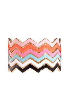 ASOS Pack of Enamel Stack Bangles