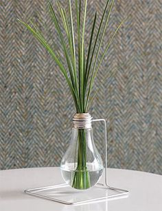 Recycled lightbulb--Doing this as a fragrance reed diffuser.