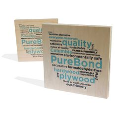 PureBond Hardwood Plywood - non-formaldahyde MDF alternative