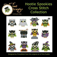 stitch pattern, collect cross, crossstitch, hooti spooki, mini collect
