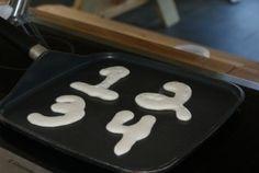 doodles' place.net  letter pancakes! Cute!!
