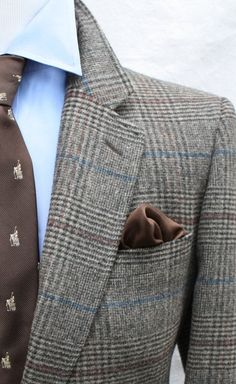 Mens Vintage Glen Plaid Camel Hair Sport Coat from Woolf Brothers by ViVifyVintage