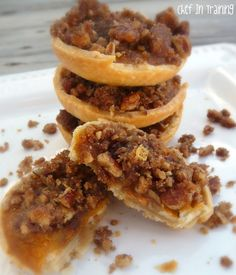 Cream Cheese and Butterscotch Pumpkin Pies with Gingersnap Streusel Topping | chef in training