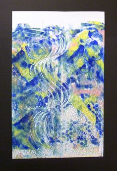 Learning how to use my Gelli Plate..