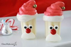 christmas desserts, christmas parties, nobak mini, mini santa, dessert recipes