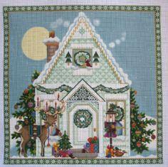 Christmas House 1138E Needlepoint Canvas by Melissa Shirley Designs | eBay  $150