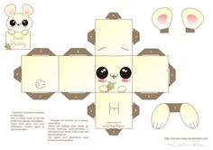 FREE printable Papercraft Kawaii bunny 2 by ~Louise-Rosa on deviantART