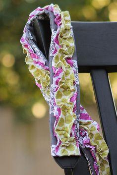 Ruffled Camera Strap Slipcover