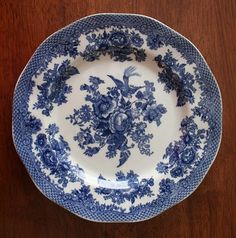 blue plate blue rooms, pretti plate, plates, blue plate, spode blue, design, blues
