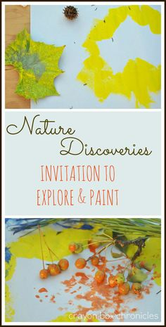 An Invitation to Explore & Paint with Nature from Crayon Box Chronicles