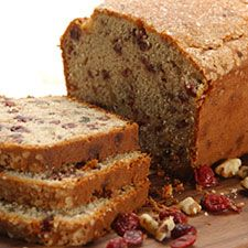 Gluten-Free Cranberry-Orange Bread – autumn's favorite flavor combo in a moist, nicely sliceable loaf.