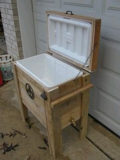 Back patio cooler - reuse old cooler.