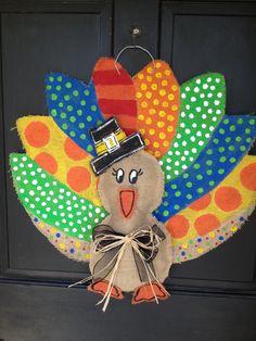 turkey burlap door hanger from Etsy