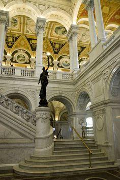 U.S. Library of Congress - Washington DC, want to see the library of congress one day!!! the architecture is phenomenal!!!