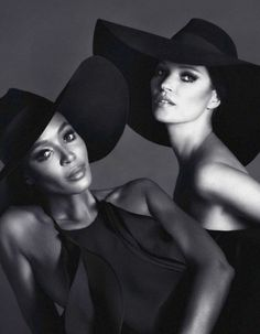 'Naomi & Kate' Kate Moss & Naomi Campbell by Mert Alas & Marcus Piggott for Interview Russia,  2012 www.fashion.net