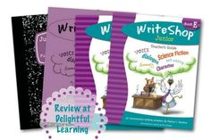 """WriteShop is not just about your child putting pencil to paper. It teaches students how to write using a variety of pre-writing activities and games, graphic organizers, and kid-friendly methods so that writing is easy and fun – even for reluctant writers."" {Write Shop Book E Review at Delightful Learning}"