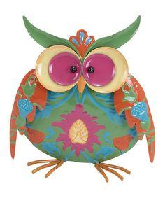 Blue  Green Owl Figurine #zulily #zulilyfinds