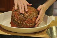 If I ever cook a ham, this is how I will do it. brown sugar, clove, mustard, bourbon glaze.