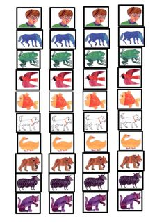 """Brown Bear, Brown Bear"" Sequencing Activity with Free Printable. Doing this with my Kindergarten class the first few weeks"