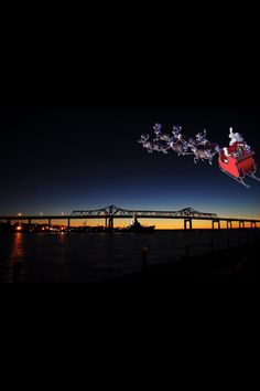 Santa over Fall River, MA