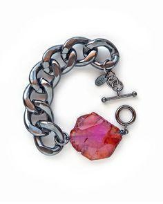 Gunmetal Athena Bracelet - Oia Jules