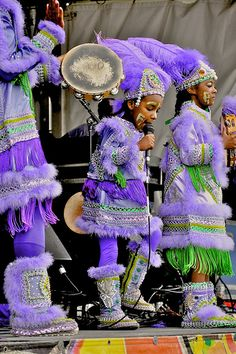 Intricate costumes for the Mardi Gras Indian Children in New Orleans.