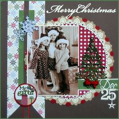 Merry Christmas scrapbook layout