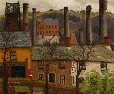 Cedric Morris - Caeharris Post Office from Gwernlwyn House (1935)