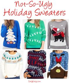 Not-So-Ugly Holiday Sweaters {Shop the Looks on DailyKaty.com}