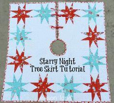 Ellison Lane Quilts: Tutorial: Starry Tree Skirt & Giveaway!