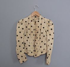 #Victorian #vintage #spotted #spots #dots #jacket