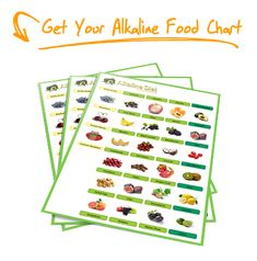 Alkaline Foods List tells you whether if the foods you are eating are acidic or alkaline - big impact on your health and body!