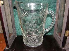Vintage Pitcher Star of David Pressed Glass Estate Piece $22.00